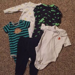 5 pcs infant boys mixed lot 9 months